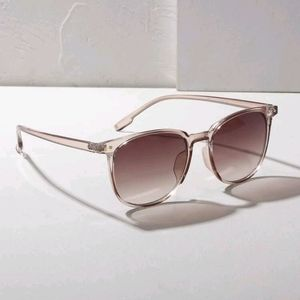 Studded Decor Flat Lens Sunglasses